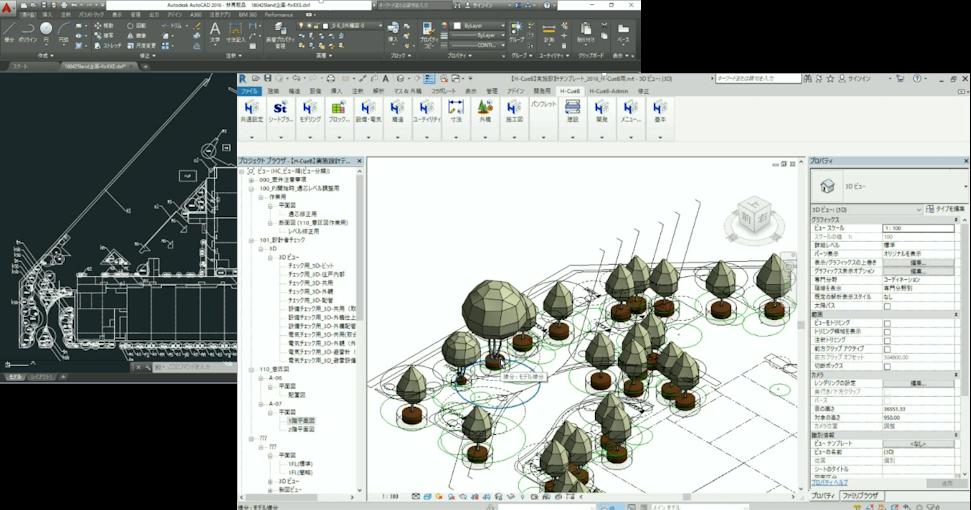 2次元CAD情報から、自動で3次元モデルを生成する事例